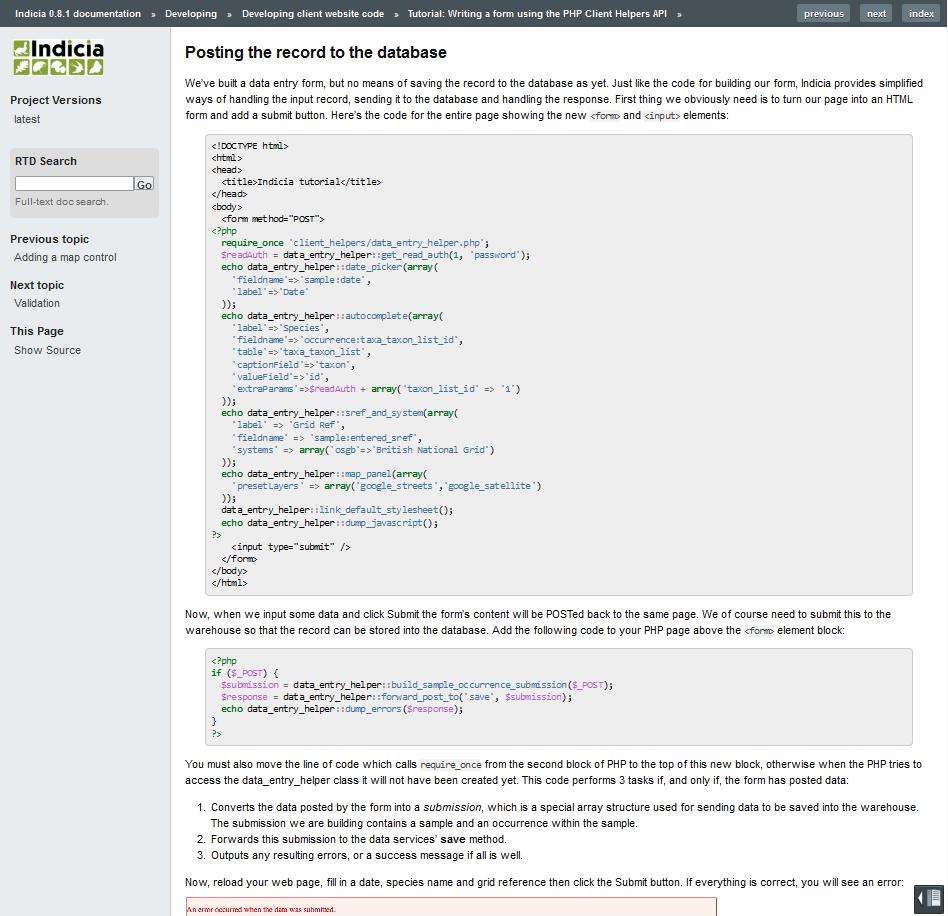 Developer documentation & tutorials